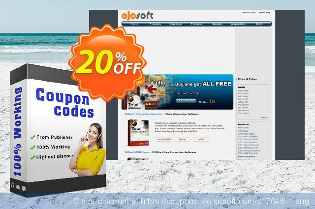 OJOsoft Total Video Converter discount 20% OFF, 2020 Halloween deals