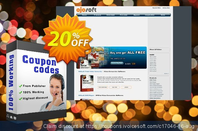 OJOsoft MP3 Converter discount 20% OFF, 2020 Working Day offering sales