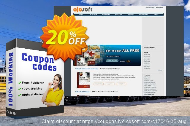 OJOsoft HD Video Converter discount 20% OFF, 2019 Exclusive Student discount sales