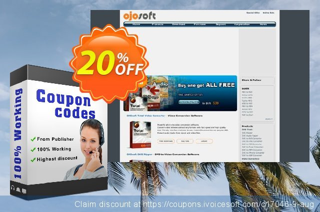 OJOsoft AVI Converter discount 20% OFF, 2019 Thanksgiving Day offering sales
