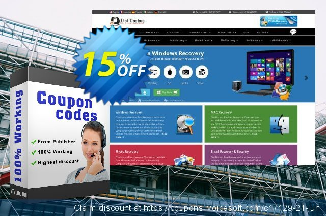 Disk Doctors Mac Data Recovery discount 15% OFF, 2020 Fourth of July sales