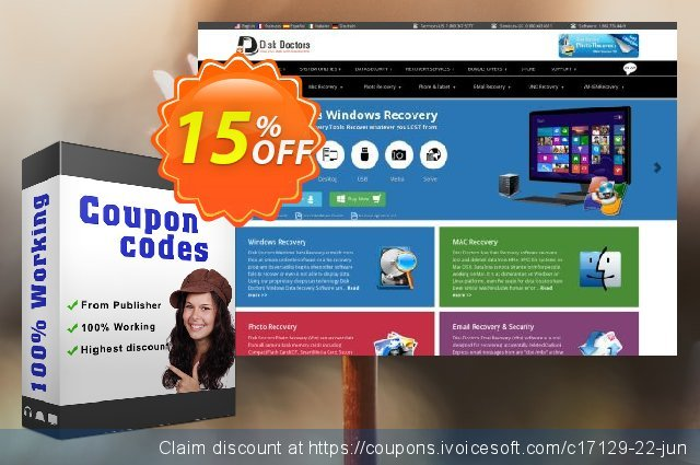 Disk Doctors Photo Recovery (Mac) discount 15% OFF, 2020 Back to School event offer