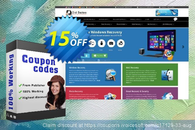 Disk Doctor Photo Recovery (Win) discount 15% OFF, 2019 Thanksgiving offering sales