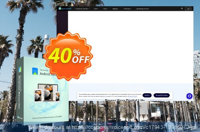 Apowersoft Android Recorder Family License (Lifetime) discount 40% OFF, 2021 New Year's Weekend deals