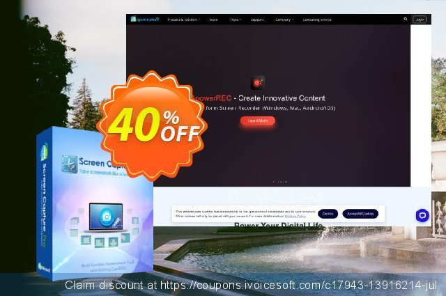 Apowersoft Screen Capture Pro Family License (Lifetime) discount 40% OFF, 2021 New Year offering sales