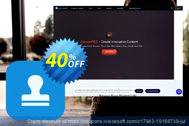 Apowersoft Watermark Remover Personal License (Lifetime) discount 30% OFF, 2020 New Year's Weekend offering discount