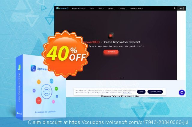 ApowerCompress Personal License (Lifetime) discount 30% OFF, 2020 Summer offering sales