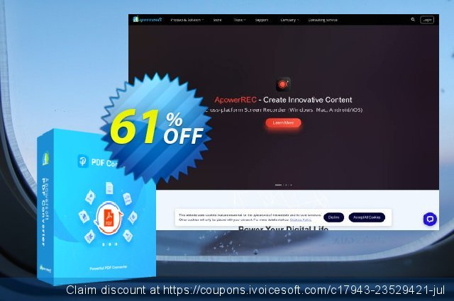 Apowersoft PDF Converter (Monthly Subscription) discount 61% OFF, 2020 Black Friday offering deals