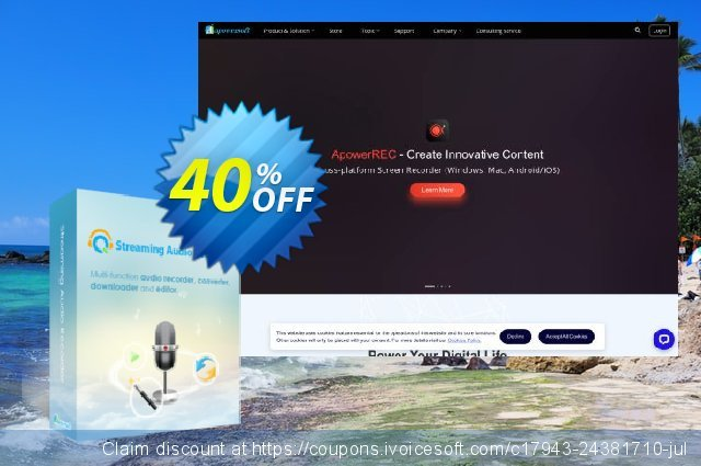 Streaming Audio Recorder Family License (Lifetime) discount 30% OFF, 2019 Thanksgiving offering sales