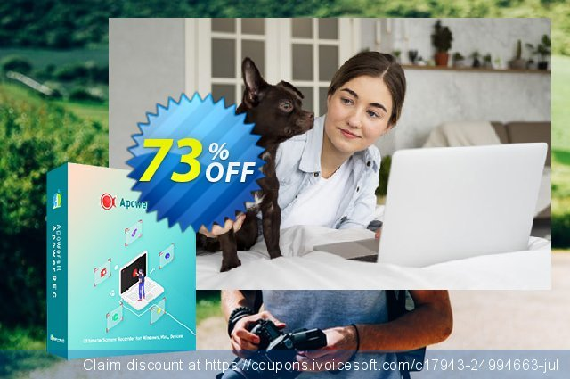 Apowersoft Screen Recorder Pro Lifetime discount 73% OFF, 2021 Happy New Year offering sales