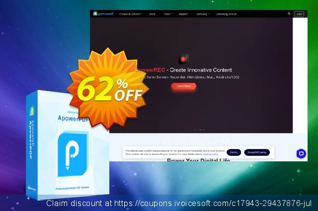 Apowersoft PDF Compressor (Yearly Subscription) discount 62% OFF, 2021 Happy New Year offer