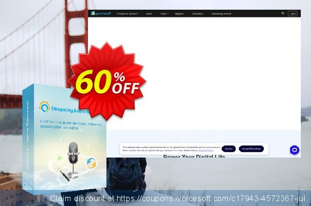 Streaming Audio Recorder Personal License discount 60% OFF, 2021 New Year promo sales