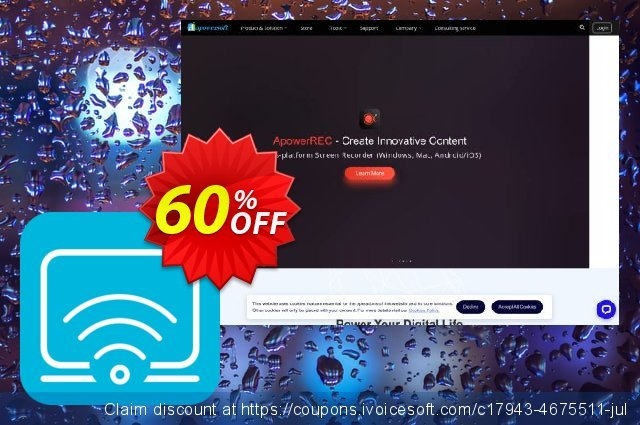 Apowersoft iPhone/iPad Recorder Personal License discount 60% OFF, 2021 Spring sales