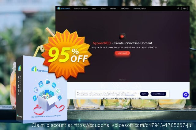 Apowersoft Unlimited Lifetime discount 95% OFF, 2019 4th of July offering sales