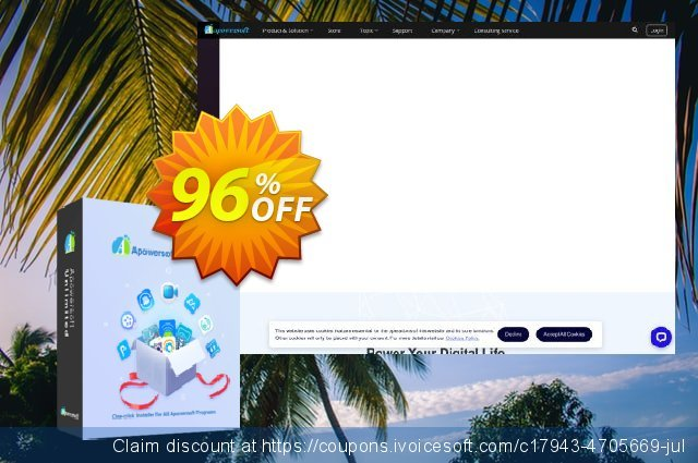 Apowersoft Unlimited Business Lifetime discount 96% OFF, 2019 Back to School deals offering sales
