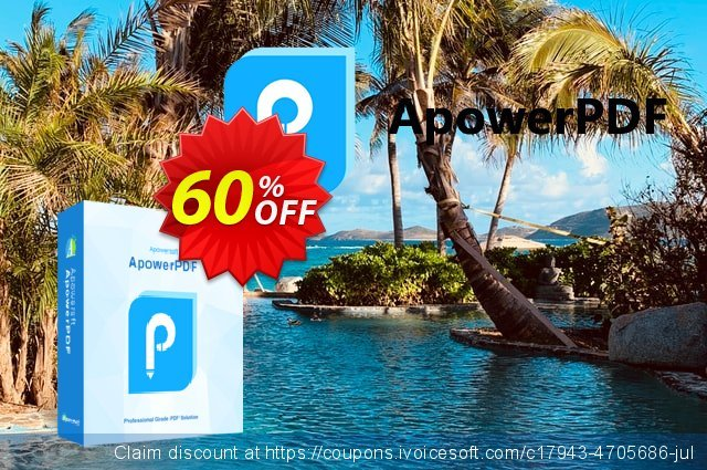 ApowerPDF Yearly discount 60% OFF, 2020 Fourth of July offering sales