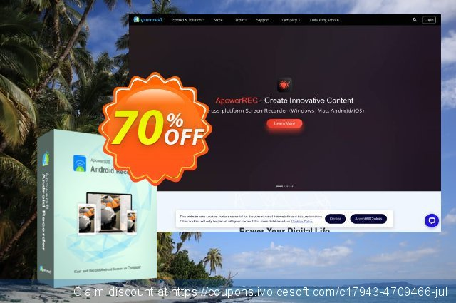 Apowersoft Android Recorder Yearly discount 53% OFF, 2020 Fourth of July promo