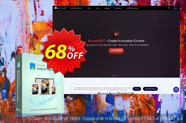 Apowersoft Android Recorder Lifetime discount 57% OFF, 2020 4th of July offering sales