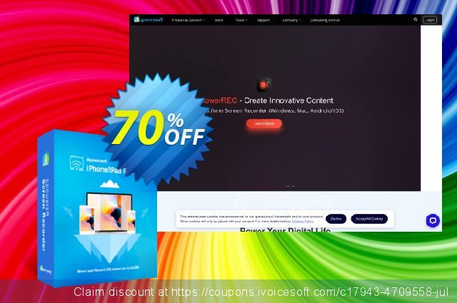 Apowersoft iPhone/iPad Recorder Yearly discount 53% OFF, 2020 New Year's Weekend promotions