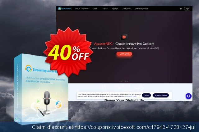 Streaming Audio Recorder Family License (Lifetime) discount 40% OFF, 2021 Happy New Year offering discount