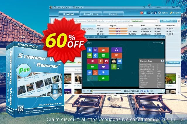 Apowersoft Streaming Video Recorder discount 53% OFF, 2019 Halloween offering sales