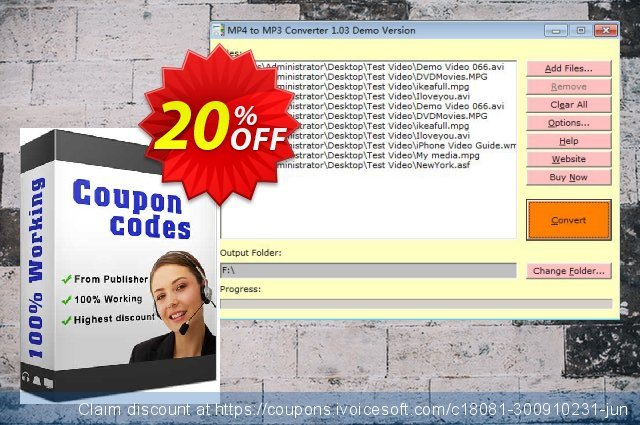 MP4 to MP3 Converter discount 20% OFF, 2020 Halloween promo sales