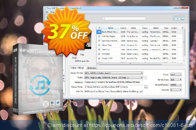 Easy M4P Converter for Windows discount 37% OFF, 2021 April Fools' Day offering sales