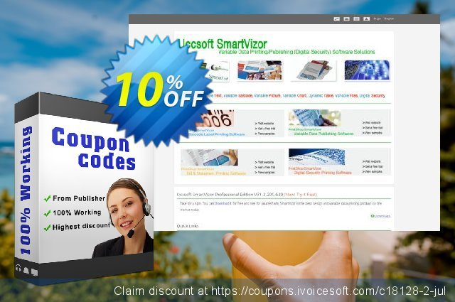 SmartVizor Variable Barcode Label Printing Software V22.0 discount 10% OFF, 2020 Happy New Year offer