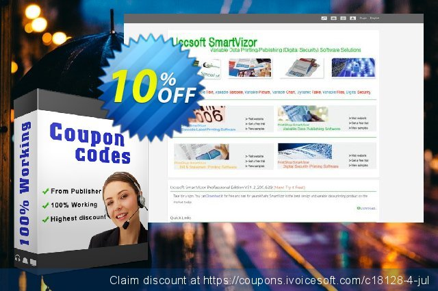 SmartVizor Variable Label Batch Printing Software V22.0 discount 10% OFF, 2020 Summer offering sales