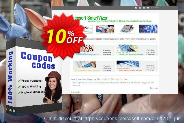 SmartVizor Variable Label Batch Printing Software V22.0 discount 10% OFF, 2020 Thanksgiving Day offering sales