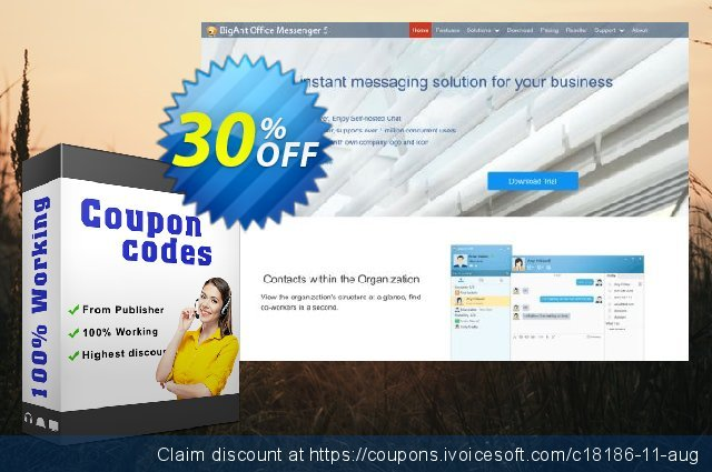 BigAnt Messenger Pro (300 users) discount 30% OFF, 2020 Father's Day offering sales
