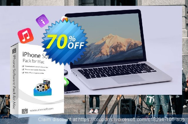 Aiseesoft iPhone Software Pack for Mac discount 40% OFF, 2019 National Women month offering sales