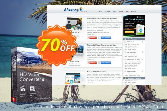Aiseesoft HD Video Converter discount 40% OFF, 2019 Spring offering sales
