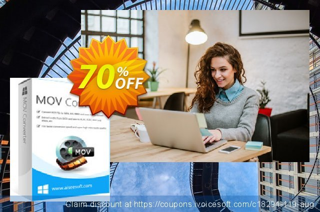 Aiseesoft MOV Converter discount 70% OFF, 2020 Labour Day offering sales