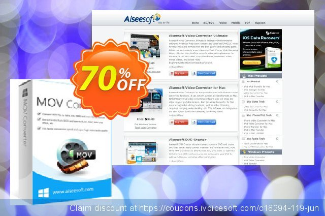 Aiseesoft MOV Converter discount 70% OFF, 2021 Labour Day offering sales