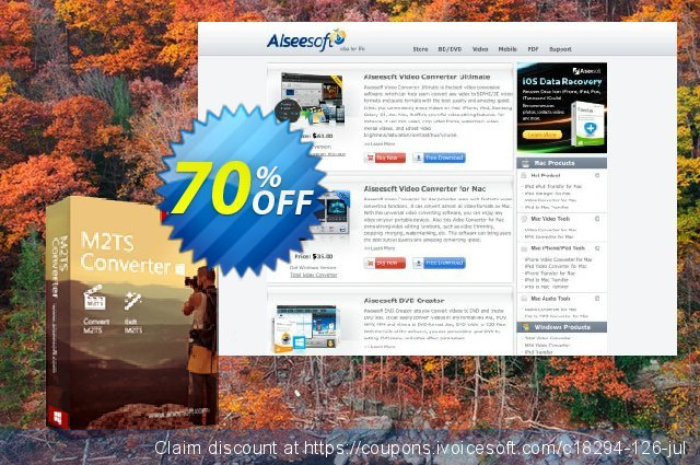 Aiseesoft M2TS Converter discount 40% OFF, 2019 Happy New Year offering sales