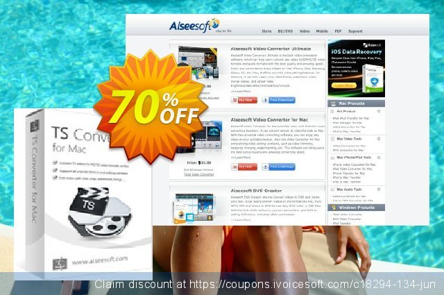 Aiseesoft TS Converter for Mac 大的 优惠码 软件截图