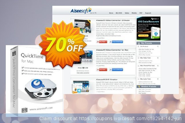 Aiseesoft QuickTime Converter for Mac  위대하   매상  스크린 샷