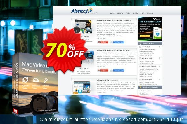 Aiseesoft M4V Converter for Mac discount 40% OFF, 2019 Father's Day offering sales
