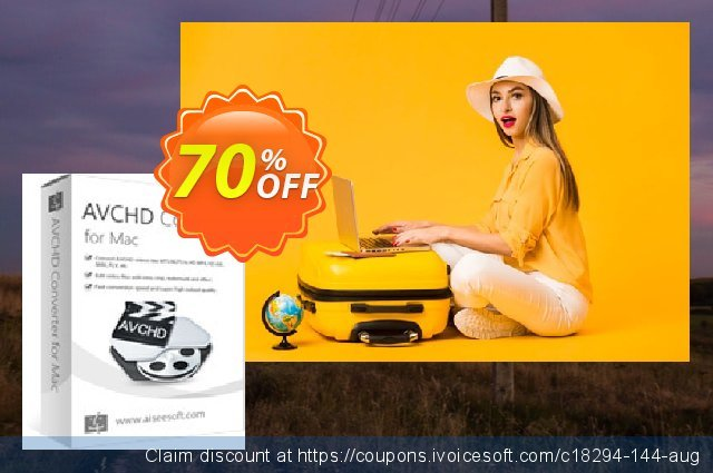Aiseesoft AVCHD Converter for Mac discount 40% OFF, 2019 Back-to-School promotions deals