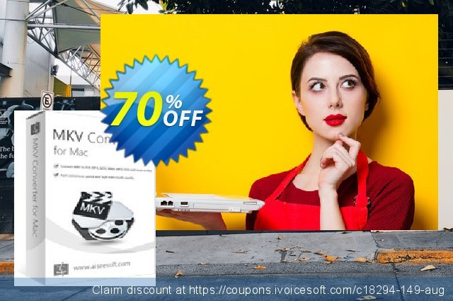 Aiseesoft MKV Converter for Mac 棒极了 折扣 软件截图