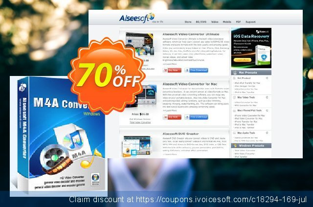 Aiseesoft M4A Converter discount 40% OFF, 2019 Father's Day offering discount