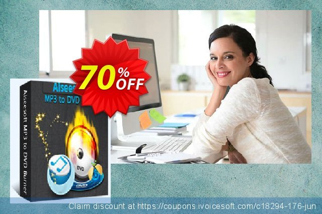 Aiseesoft MP3 to DVD Burner discount 10% OFF, 2019 January offering sales