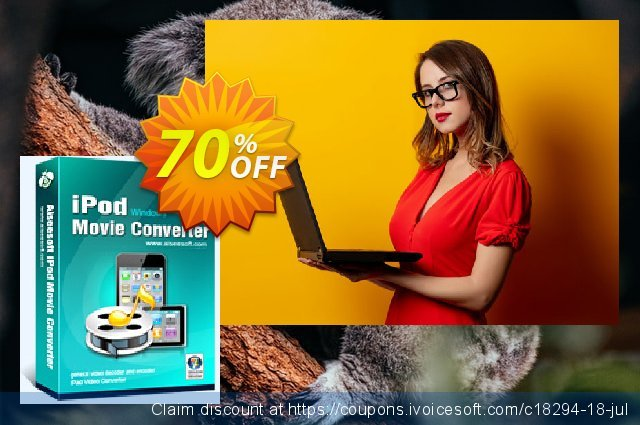 Aiseesoft iPod Movie Converter discount 40% OFF, 2019 Earth Hour offering discount