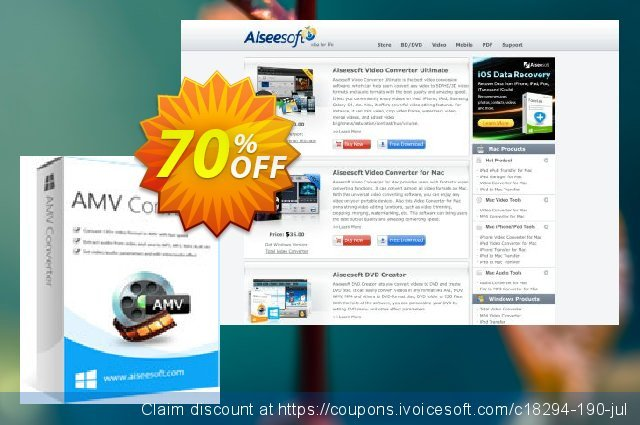 Aiseesoft AMV Converter discount 40% OFF, 2019 January sales