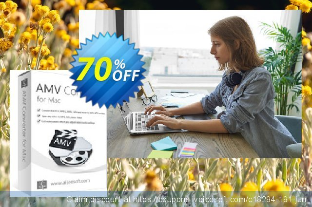 Aiseesoft AMV Converter for Mac discount 70% OFF, 2020 Father's Day promo sales