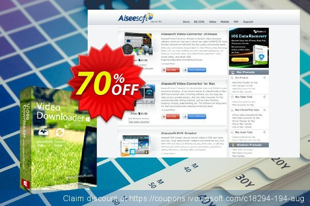 Get 30% OFF Aiseesoft Video Downloader offering sales