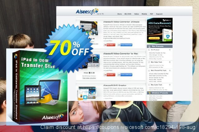 Aiseesoft iPad to Computer Transfer discount 40% OFF, 2019 Summer offering sales