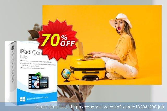 Aiseesoft iPad Converter Suite discount 70% OFF, 2021 New Year offering sales