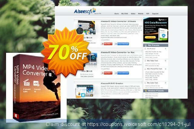 Aiseesoft MP4 Video Converter discount 40% OFF, 2019 Happy New Year offering discount